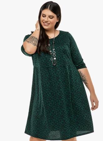Φόρεμα Σκούρο Πράσινο Animal Print 'Yours' 2019_12_13-Maniags2324 Maniags
