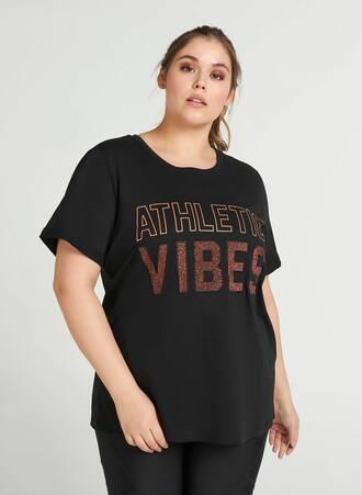 Μαύρο T-Shirt με Τύπωμα Maniags