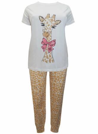 Πυτζάμα Βαμβακερή Giraffe Maniags