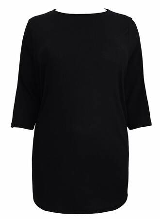 Μπλούζα Μαύρη Ribbed Maniags