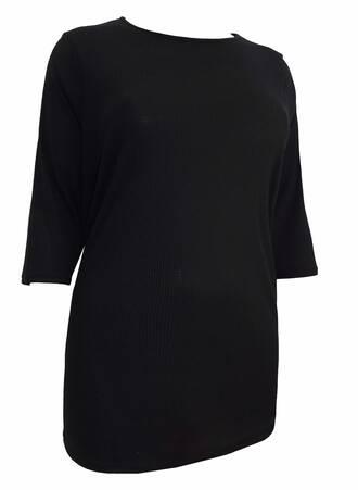 Μπλούζα Μαύρη Ribbed TP6104-BLACK-03 Maniags