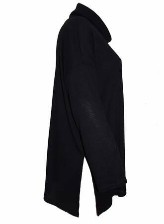 Μπλούζα Μαύρη Ζιβάγκο Ribbed TP6105-BLACK-03 Maniags