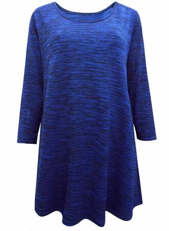 Τουνίκ Jersey Μπλε με Μανίκι 3/4 Maniags