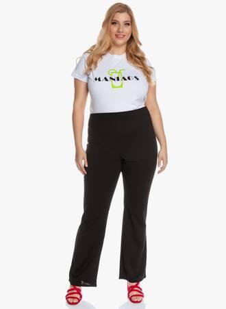 Ελαστικό Παντελόνι Bootcut Μαύρο 'Yours' 2020_05_26_Maniagz3362 Maniags
