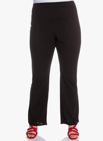 Ελαστικό Παντελόνι Bootcut Μαύρο 'Yours' Maniags