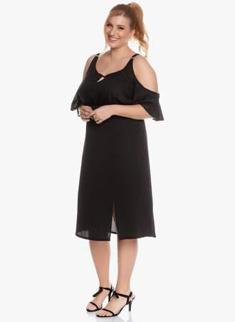 Midi Φούστα Μαύρη με Σκίσιμο 'Yours' 2020_05_26_Maniagz3796 Maniags