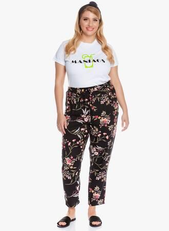 Παντελόνι Μαύρο Φλοραλ Tapered 'Yours' 2020_05_26_Maniagz4330 Maniags