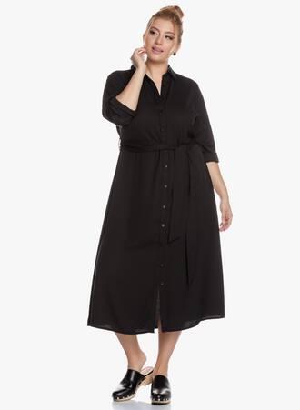 Σεμιζιέ Φόρεμα Midi με Ζωνάκι Maniags
