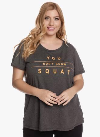 Γκρι Αθλητικό T-shirt με Πορτοκαλί Τύπωμα Maniags