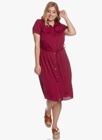 Σεμιζιέ Φόρεμα Midi Βουργουνδί 2020_05_27_Maniags5921 Maniags