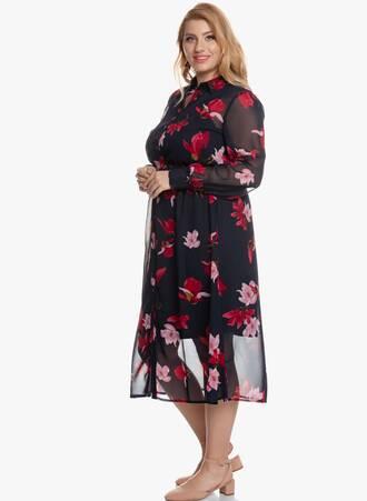 Σεμιζιέ Φόρεμα Navy Floral 2020_05_27_Maniags6360 Maniags