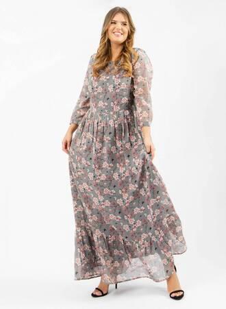 Φόρεμα Μάξι Boho Φλοραλ Maniags