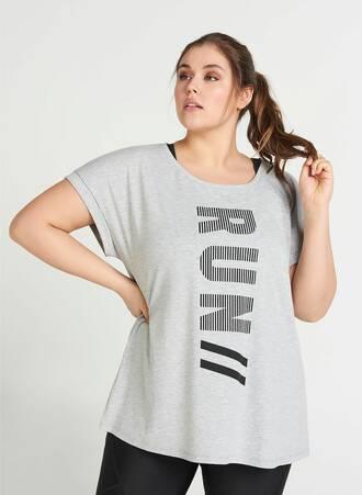 Αθλητικό T-shirt 'RUN' Maniags