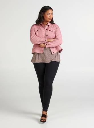 Τζιν Jacket Ελαστικό Απαλό Ροζ Maniags