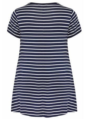 Μπλούζα Ριγέ Navy 'Yours' Navy_Stripe_Lattice_T-Shirt_133036_0cad Maniags