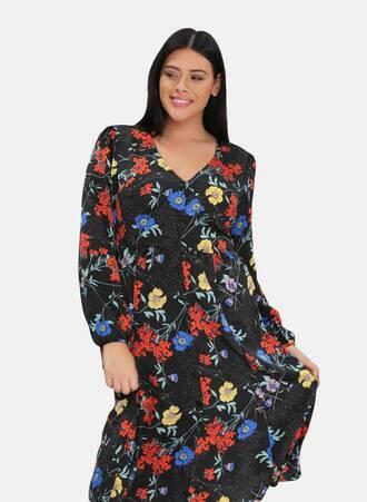 Φλοράλ Φόρεμα Midi Maniags