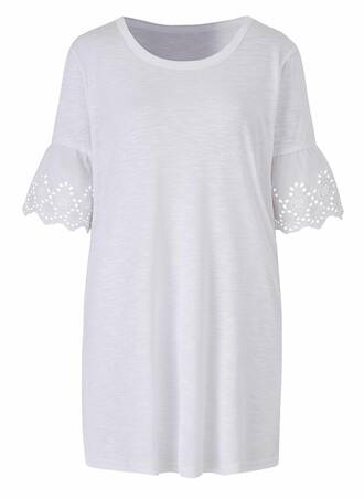 T-shirt Basic Λευκό TP8395-WHITE-01 Maniags