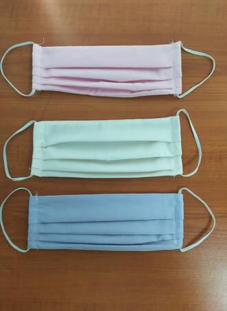 Υφασμάτινες Μάσκες Προστασίας 3 τμχ Παστέλ Maniags