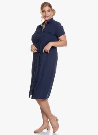 Σεμιζιέ Φόρεμα Midi Navy 2020_05_27_Maniags6038 Maniags