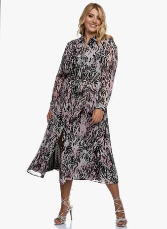 Σεμιζιέ Φόρεμα Pastel Leopard Maniags