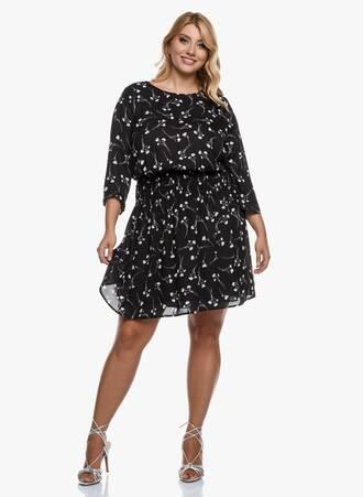 Φόρεμα Μαύρο Φλοραλ Maniags