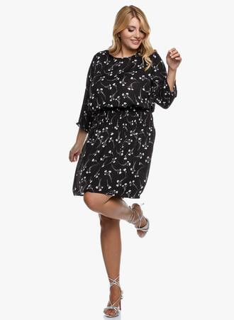 Φόρεμα Μαύρο Φλοραλ 2020_09_15-Maniags3025 Maniags