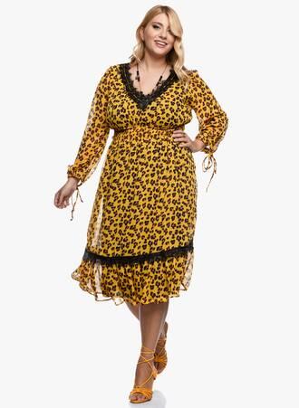 Φορέμα Midi Λεοπάρ Λεπτομέρειες Δαντέλας 2020_09_15-Maniags3092 Maniags
