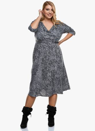 Φόρεμα Animal Print Maniags