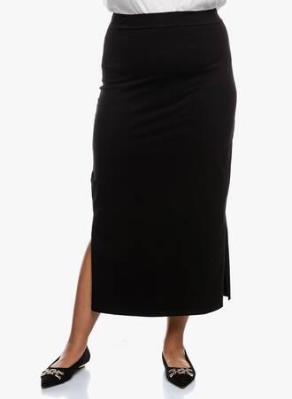 Φούστα Μαύρη Ελαστική Maxi Maniags