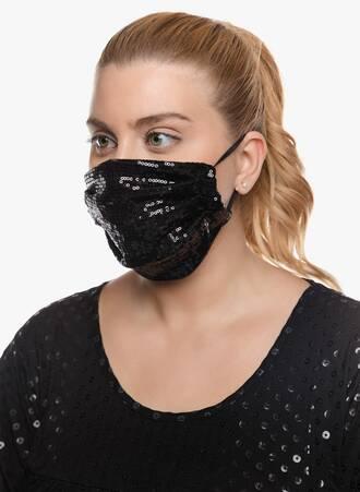 Υφασμάτινες Μάσκες Προστασίας 3 τμχ με Παγιέτα και Δαντέλα 2020_09_17-Maniags6679 Maniags