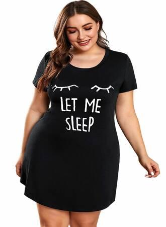 Μαύρο Νυχτικό 'Let Me Sleep' Maniags