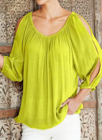 Μπλούζα Gypsy Έξωμη Lime Maniags