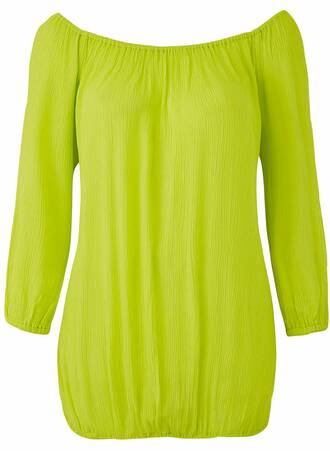 Μπλούζα Gypsy Έξωμη Lime TP5180-02 Maniags