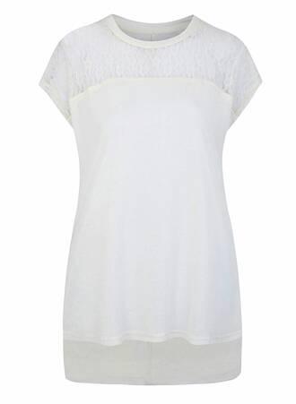 T-shirt Λευκό Δαντέλα Maniags