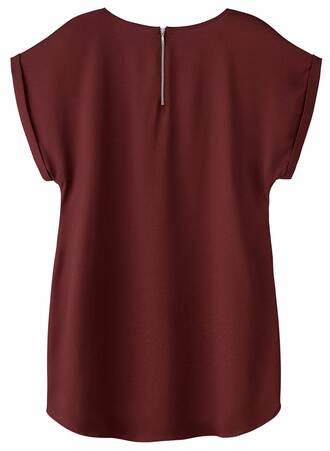 Μπλούζα Burgundy με Φερμουάρ TP7285-BURGUNDY-02 Maniags