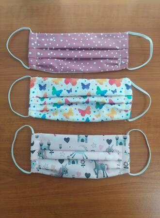 Υφασμάτινες Μάσκες Προστασίας 3 τμχ Παιδικές για Κορίτσια Maniags