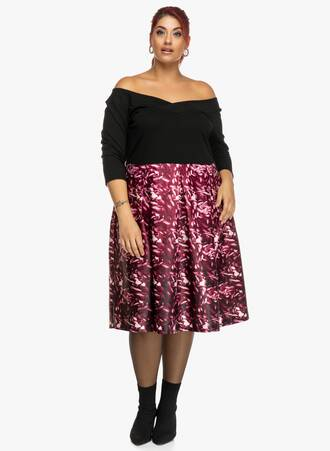 Φόρεμα Έξωμο Μαύρο-Φλοράλ Maniags