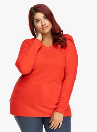 Μπλούζα Κόκκινη Ελαφριάς Πλέξης 2019_09_20-Maniags4151 Maniags