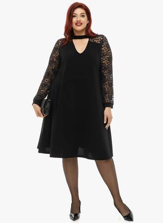 Μαύρο Φόρεμα με Choker Neck Maniags