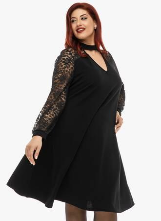 Μαύρο Φόρεμα με Choker Neck 2019_12_11-Maniags5246 Maniags