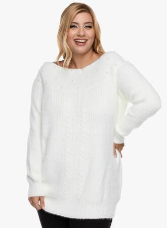 Πλεκτή Λευκή Έξωμη με Πέρλες 2020_09_17-Maniags6125 Maniags
