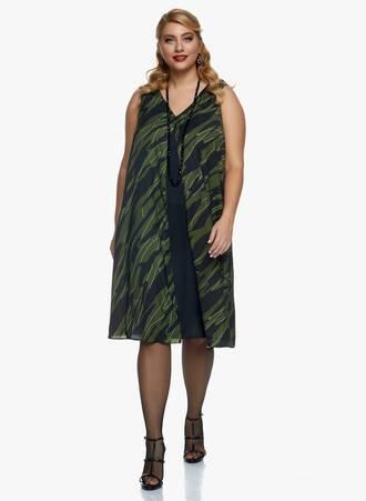 Αμάνικο Midi Φόρεμα Κυπαρισσί Maniags