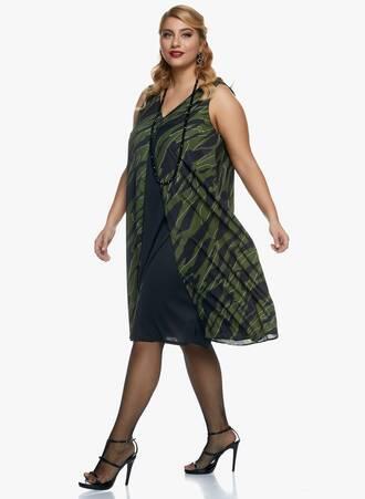 Αμάνικο Midi Φόρεμα Κυπαρισσί 2020_11_02_Maniags_0275 Maniags
