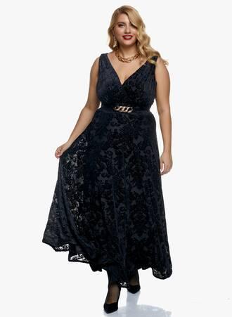 Φόρεμα Μαύρο Βελούδο Μπροκάρ 2020_11_02_Maniags_0525 Maniags