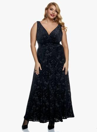 Φόρεμα Μαύρο Βελούδο Μπροκάρ Maniags
