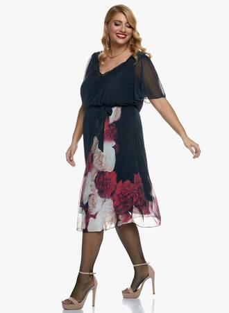 Midi Φόρεμα Φλοράλ 2020_11_02_Maniags_0574 Maniags