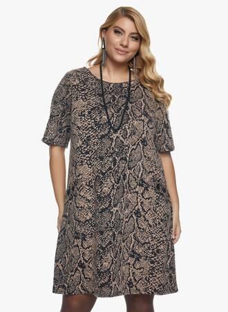 Φόρεμα Snake Print Maniags