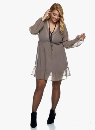 Midi Φόρεμα με Κέντημα στο Ντεκολτέ 2020_11_02_Maniags_1092 Maniags