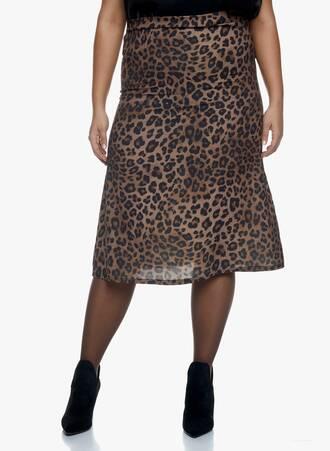 Midi Leopard Φούστα Maniags