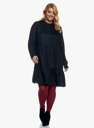 Μαύρο Φόρεμα με Μάο Γιακά Maniags